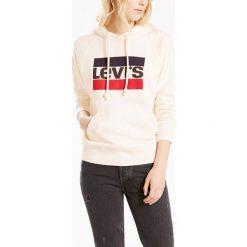 Bluza z kapturem, z nadrukiem. Szare bluzy z nadrukiem damskie Levi's®, l, z bawełny, z długim rękawem, długie, z kapturem. Za 327,56 zł.