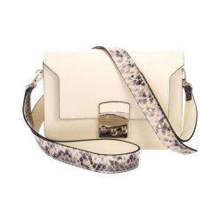 Torebki klasyczne damskie: Skórzana torebka w kolorze beżowym – (S)26 x (W)15 x (G)8 cm
