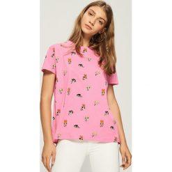 T-shirt Atomówki - Różowy. Czerwone t-shirty damskie marki Sinsay, l. W wyprzedaży za 29,99 zł.