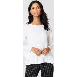 Bluzki asymetryczne: Rut&Circle Bluzka odcinana w talii Venda - White