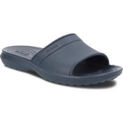 Klapki CROCS - Classic Slide K 204981  Navy. Niebieskie klapki chłopięce marki Crocs, z tworzywa sztucznego. Za 79,00 zł.