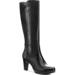 Kozaki TAMARIS - 1-25571-39 Black 001. Czarne buty zimowe damskie marki Superfit, z gore-texu, przed kolano, na wysokim obcasie. W wyprzedaży za 299,00 zł.
