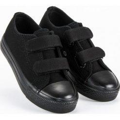 Buty dziecięce: Dziecięce trampki na rzepy Merg czarne