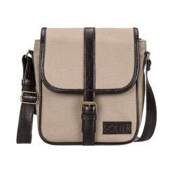 Skórzana torba na ramię / tablet Solier VITOR beżowa. Brązowe torby na ramię męskie marki Kazar, ze skóry, przez ramię, małe. Za 199,90 zł.