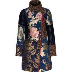 Płaszcze damskie: Płaszcz w żakardowy wzór bonprix niebiesko-kolorowy