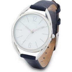Zegarek na rękę bonprix ciemnoniebiesko-srebrny kolor. Niebieskie zegarki damskie bonprix, srebrne. Za 74,99 zł.