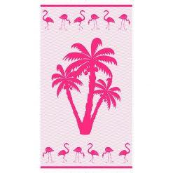 """Kąpielówki męskie: Fouta """"Pompano"""" w kolorze różowym – 160 x 90 cm"""