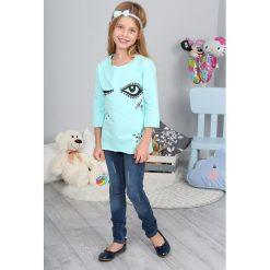 T-shirty dziewczęce: Turkusowa Bluzka NDZ7571