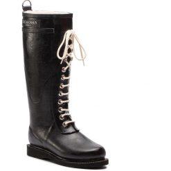 Kalosze ILSE JACOBSEN - RUB1 Black 01. Brązowe buty zimowe damskie marki Alma en Pena, z materiału, na obcasie. Za 649,00 zł.
