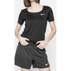 Nike - Top. Czarne topy sportowe damskie marki Nike, xs, z bawełny. W wyprzedaży za 89,90 zł.