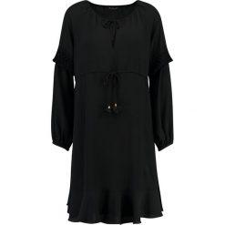 Sisley TIE WAIST SMOCK DRESS Sukienka letnia nero. Czarne sukienki letnie Sisley, z elastanu. Za 499,00 zł.