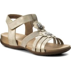 Sandały RIEKER - K2266-60 Gold. Czarne sandały dziewczęce marki Rieker, z materiału. Za 229,00 zł.