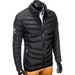 KURTKA MĘSKA ZIMOWA PIKOWANA C314 - CZARNA. Zielone kurtki męskie pikowane marki Ombre Clothing, na zimę, m, z bawełny, z kapturem. Za 79,00 zł.
