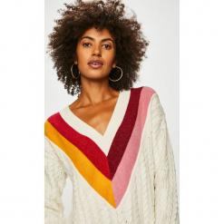 Tommy Hilfiger - Sweter. Szare swetry klasyczne damskie marki TOMMY HILFIGER, l, z bawełny. Za 749,90 zł.