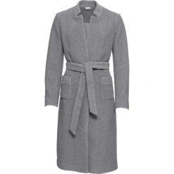 Płaszcz z paskiem, bez podszewki bonprix szary melanż. Szare płaszcze damskie bonprix, melanż. Za 269,99 zł.