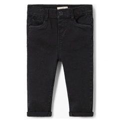 Mango Kids - Jeansy dziecięce Elenan 80-104 cm. Niebieskie rurki dziewczęce Mango Kids, z aplikacjami, z bawełny. Za 59,90 zł.