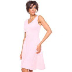 """Sukienki hiszpanki: Sukienka """"Ninon"""" w kolorze jasnoróżowym"""