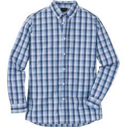 Koszula z długim rękawem Regular Fit bonprix niebieski w kratę. Białe koszule męskie marki bonprix, z klasycznym kołnierzykiem, z długim rękawem. Za 59,99 zł.