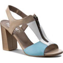 Rzymianki damskie: Sandały ANN MEX – 6887 03SA+00S+05S Beż