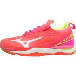 Buty sportowe damskie: Mizuno WAVE MIRAGE  Obuwie do piłki ręcznej fiery coral/safety yellow/pink glow