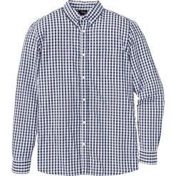 Koszula z długim rękawem Regular Fit bonprix ciemnoniebiesko-biały w kratę. Białe koszule męskie na spinki marki Reserved, l. Za 37,99 zł.