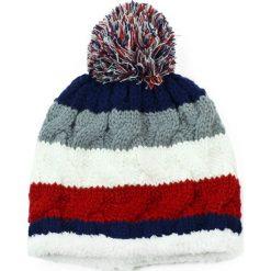 Czapka damska Futerkowe podbicie czerwono biała. Białe czapki zimowe damskie marki Art of Polo. Za 37,60 zł.