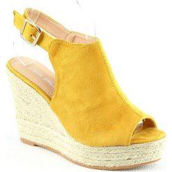 Rzymianki damskie: Sandały w kolorze żółtym
