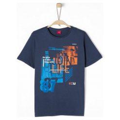 S.Oliver T-Shirt Chłopięcy S Niebieski. Niebieskie t-shirty chłopięce z długim rękawem S.Oliver, z nadrukiem. Za 39,00 zł.