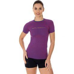 T-shirty damskie: Brubeck Koszulka damska 3D Run Pro purpurowa r. XL (SS12030)