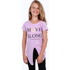 Tunika dziewczęca z rozcięciem fioletowa NDZ8229. Szare sukienki dziewczęce marki Fasardi. Za 39,00 zł.
