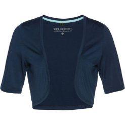 Bolerko shirtowe bonprix ciemnoniebieski. Niebieskie bolerka i narzutki damskie bonprix. Za 44,99 zł.