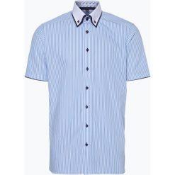 Finshley & Harding - Koszula męska, niebieski. Niebieskie koszule męskie na spinki Finshley & Harding, l, z bawełny, z kontrastowym kołnierzykiem, z krótkim rękawem. Za 149,95 zł.
