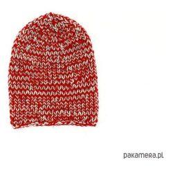 Czapka melanżowa unisex robiona na drutach. Brązowe czapki zimowe damskie Pakamera, z poliamidu. Za 69,00 zł.