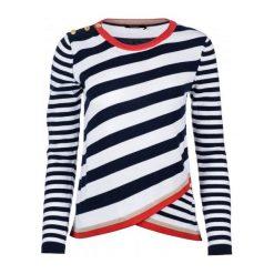 Desigual Sweter Damski M Biały. Białe swetry klasyczne damskie marki Desigual, m, z kontrastowym kołnierzykiem. Za 380,00 zł.