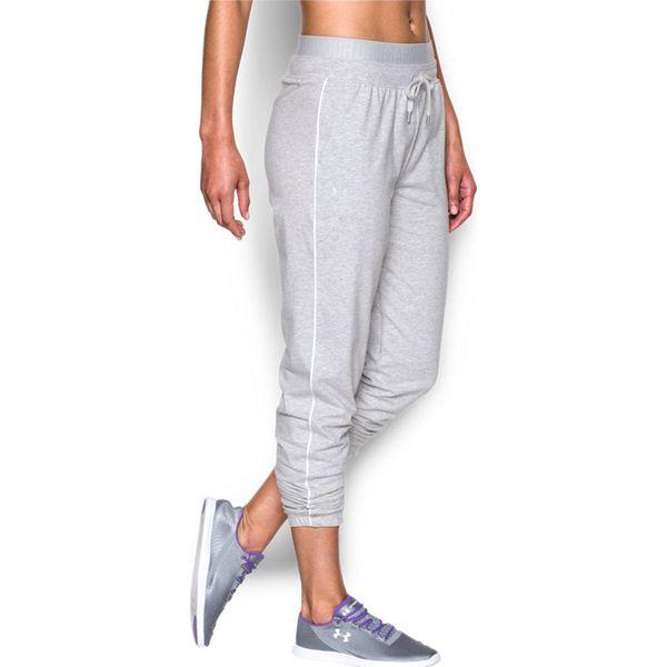 afca9aeb Under Armour Spodnie dresowe damskie Favourite Slim Leg szare r. S  (1280666053)