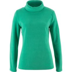 Bluzy damskie: Bluza z polaru z golfem bonprix szmaragdowy