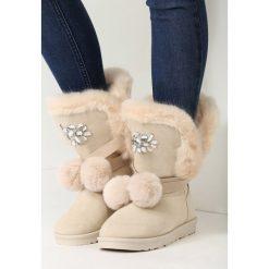 Beżowe Śniegowce Ice Lady. Białe buty zimowe damskie marki vices. Za 109,99 zł.