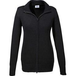 Sweter rozpinany bonprix czarny. Czarne golfy damskie bonprix, z bawełny. Za 74,99 zł.
