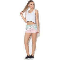 Colour Pleasure Spodnie damskie CP-020 27 miętowo-różowe r. XS/S. Fioletowe spodnie sportowe damskie marki Colour pleasure, uniwersalny. Za 72,34 zł.