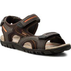Sandały męskie: Sandały GEOX – U. S.Strada D U8224D 050AU C6Z7L Ebony/Dk Orange