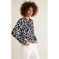 Mango - Koszula Storm. Szare koszule damskie marki Mango, l, z materiału, klasyczne, z klasycznym kołnierzykiem, z długim rękawem. Za 139,90 zł.