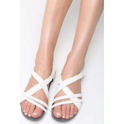 Białe Sandały Swallow. Białe sandały damskie vices, na płaskiej podeszwie. Za 89,99 zł.