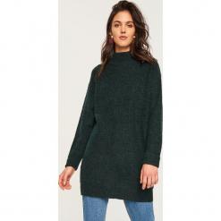 Sweter z domieszką wełny - Khaki. Brązowe swetry klasyczne damskie marki Reserved, l, z wełny. Za 119,99 zł.