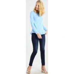 Bluzki asymetryczne: Rich & Royal SLUB PEPLUM Bluzka z długim rękawem light blue