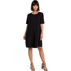 ADRIANA Zwiewna sukienka bombka - czarna. Czarne sukienki balowe marki BE, l, z tkaniny, bombki. Za 139,99 zł.