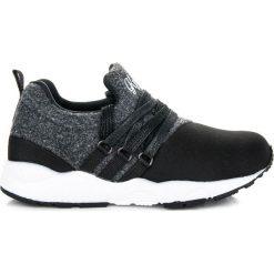 STYLOWE OBUWIE DZIECIĘCE - czarny. Czarne buciki niemowlęce marki KYLIE, z jeansu. Za 29,90 zł.