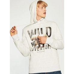 Odzież męska: Bluza z kapturem - Kremowy
