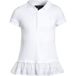 Bluzki dziewczęce bawełniane: Polo Ralph Lauren EYELET  Koszulka polo white