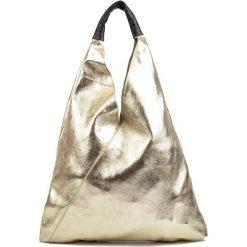 Torebka w kolorze złotym - (S)46 x (W)36 cm. Żółte shopper bag damskie Bestsellers bags, z materiału. W wyprzedaży za 269,95 zł.