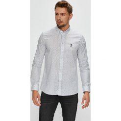 U.S. Polo - Koszula. Szare koszule męskie na spinki marki S.Oliver, l, z bawełny, z włoskim kołnierzykiem, z długim rękawem. W wyprzedaży za 279,90 zł.